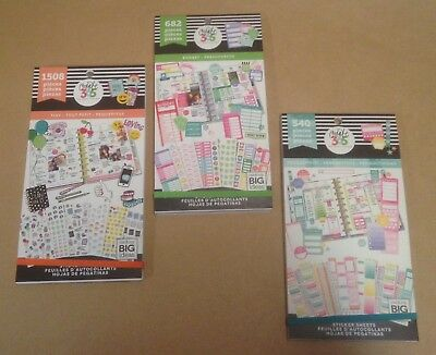 SET of the 3 me & my big ideas Sticker Value Packs TINY BUDGET PRODUCTIVITY