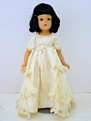"15"" Vintage Composition Mme Alexander Doll Black Hair Blue Eyes Madame Alexander"