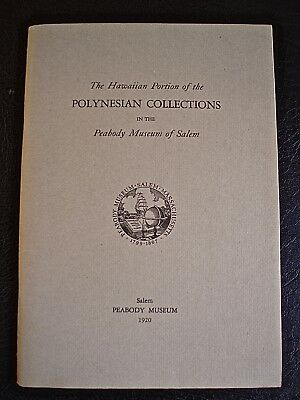 Polynesian Collections, Peabody Museum,1920