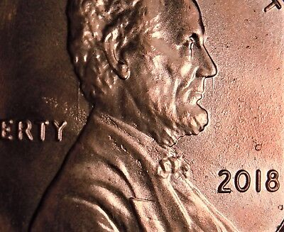 New Die Clashed 2018 Lincoln Cent / Gem Uncirculated