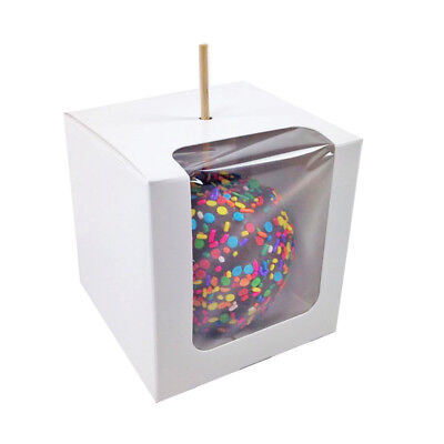 "35 x Paper Candy Apple Boxes 4""x4""x4"""