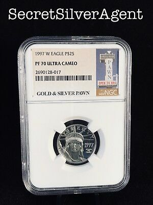 1997-W $25 Proof Platinum Eagle NGC PF70 Ultra Cameo - *FREE SHIPPING*