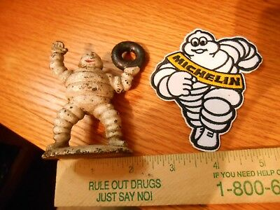 3.25 inch cast iron Michelin Tire Figure 239 gram weight + Patch