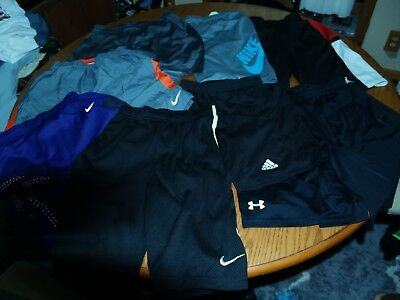 Lot Of 8~Youth~Under Armour~Nike~Athletic Shorts~Gym~Sz L~Running Training