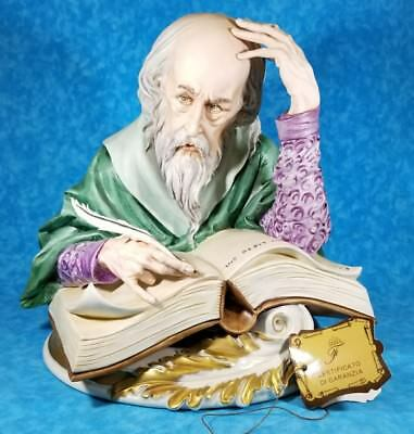 Huge Capodimonte Figurine Signed Numbered Poet Thinker Wizard