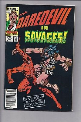 High Grade Canadian Newsstand Edition $0.75 Price Daredevil #202