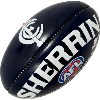 Softie Carlton Blues Mini Footy Ball Sherrin Football AFL Licensed Kangaroo