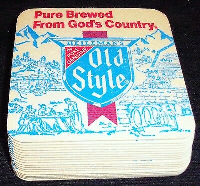 """Vintage OLD STYLE / SPECIAL EXPORT BEER """"2 SIDES"""" - 18 BEER BAR COASTERS NEW"""