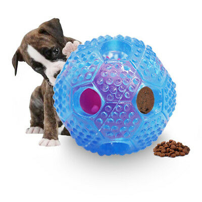 Food Dispenser Pet Dog Ball Training Chew Toy Cleaning Teeth Puppy Cat TPR