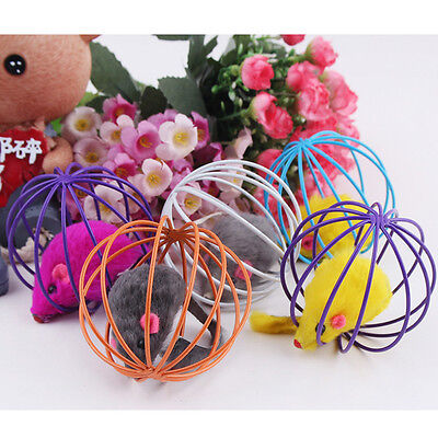 Funny Gift Play Playing Toys False Mouse in Rat Cage Ball For Pet Cat Kitten Dog