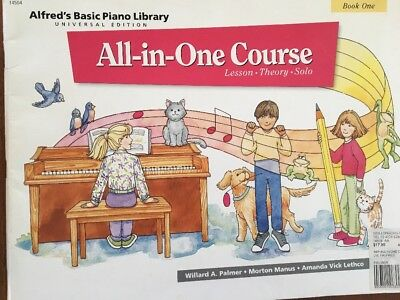 Alfred's Basic Piano Library All In One Course Book 1 Used