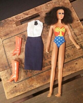 "Vintage 1976 Mego WONDER WOMAN  12"" Figure Doll DC Comics Boots & Dress"