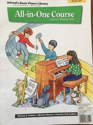 Alfred's Basic Piano Library All In One Course Book Two Used