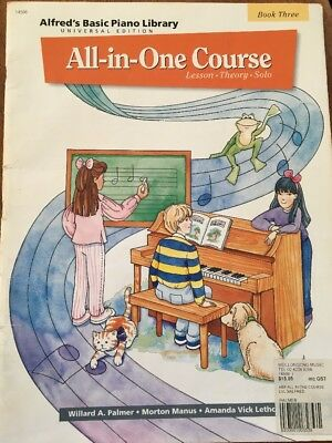 Alfred's Basic Piano Library All In One Course Book THREE 3 Used