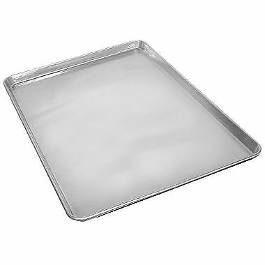 "New! 2 Half Size 18"" x 13"" Aluminum Sheet Baking Pan Bread Cookie Commercial"