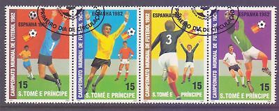 St Thomas & Prince Islands  1982  World Cup Soccer, CTO.