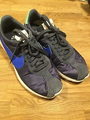Nike Trainers Grey with Blue Tick Retro Classic UK 7 EUR 41 Excellent Condition