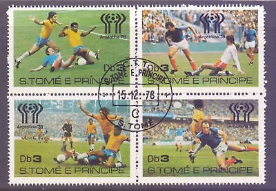 St. Thomas & Prince Islands  1978  World Cup Soccer, CTO.