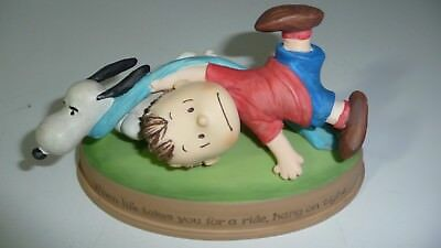 Peanuts Gallery 2010 Figurine Snoopy & Linus Hang On Tight By Hallmark Collector