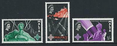1958 MALTA George Cross Set - 2nd Issue MNH (Scott 269-271)