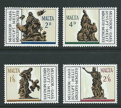 1967 MALTA Sculptures by Gafa Set MNH (Scott 367-370)