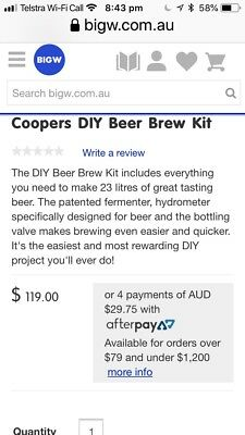 Coopers Home Brew Kit