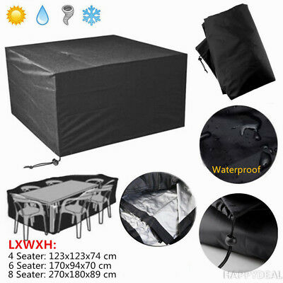 IN/Outdoor Furniture Cover UV Waterproof Garden Patio Table Shelter 4/6/8 Seater
