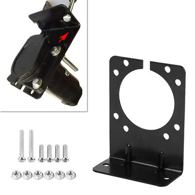 Mounting Bracket Holder for 7 Pin Caravan Towing Trailer Connector Plug Socket