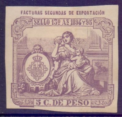 Spain  1894  Fiscal Stamp, MH.