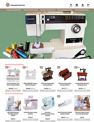 Established Sewing Machine Profitable Website Business For Sale - Dropshiping