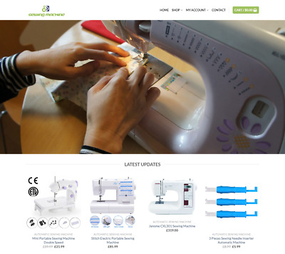 Sewing Machine Website For Sale - Earn £795.00 A SALE. Free Domain| Web Hosting