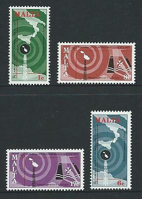 1977 MALTA World Telecommunications Day Set MNH (Scott 535-538)