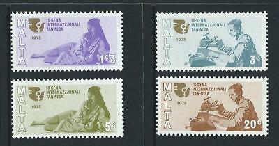 1975 MALTA International Womens Year Set MNH (Scott 491-494)