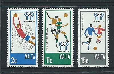 1978 MALTA World Cup Argentina Set MNH (Scott 549-551)