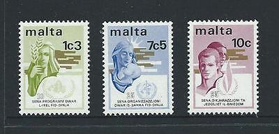 1973 MALTA Anniversaries Set MNH (Scott 472-474)