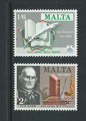 1971 MALTA Authors Set MNH (Scott 423-424)