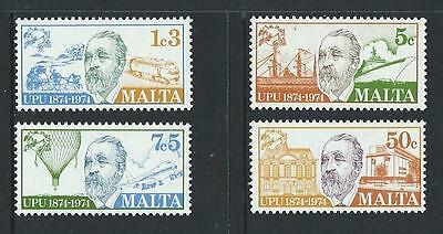 1974 MALTA Centenary of U.P.U. Set MNH (Scott 484-487)