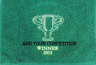 COMPETITION EMBROIDERED GOLF TOWEL Cup winner golf club society captain prize