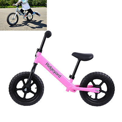 "12"" Kids Boys Girls Classic Balance Bike Child No Pedal Scooter Training Bicycle"