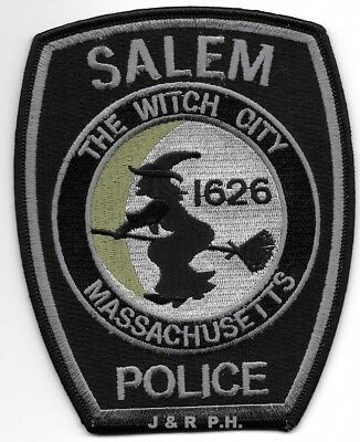 "fire patch Massachusetts  /""The Witch City/"" 1626 4/"" x 4/"" size Salem"