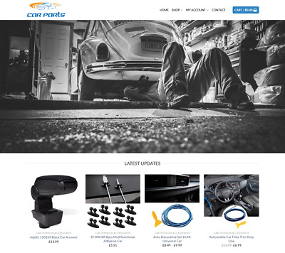 Car Parts Website For Sale - Earn £389.00 A SALE. Free Domain| Web Hosting