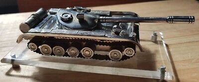 Antique Metal Military tank ornament/paperweight - bespoke made in Poland