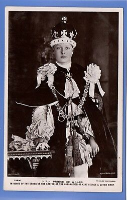 Vintage 1911 Rp Postcard Prince Of Wales In Robes Order Of The Garter Royalty
