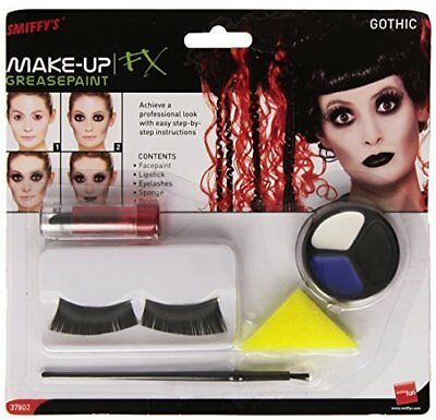 Smiffys Gothic Make Up Set Face Paint Halloween Fancy Dress Party Emo Costume