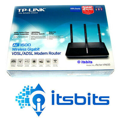 Tp-Link Archer Vr600 Vdsl Nbn & Adsl Wireless Ac1600 Gigabit 4 Port Modem Router