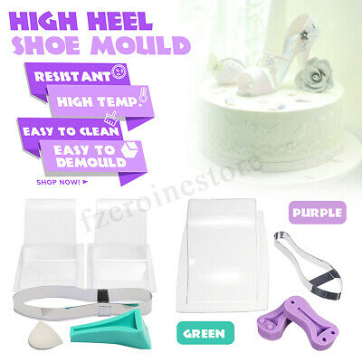 3D High Heel Shoe Silicone Chocolate Mould Fondant Mold Wedding Cake DIY Decor