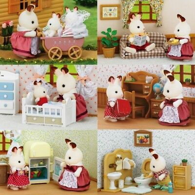Sylvanian Families Furniture and Figurines Animals Hares Family Dollhouse Sets