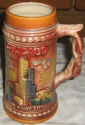 """Bierkrug """"Chicago - The Windy City"""" (Made In Japan)"""