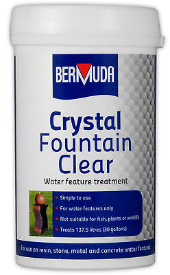 Bermuda Crystal Fountain Clear 385g Dirty Water Feature Algae Cleaner Garden
