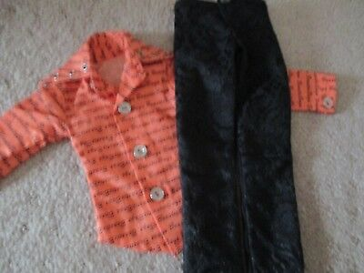 bjd doll Outfit Orange shirt and black pants and hope your love them